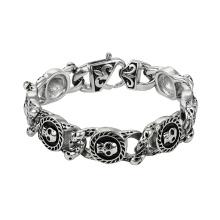 75469 XP atacado novo design de jóias em aço inoxidável estilo hiphop pulseira de caveira