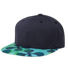 Fecho de alça de couro 6 painel Snapback Caps