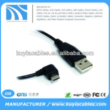 USB 2.0 A Male to Right 90 degree Angle Micro B USB Cable