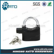 Alumínio Alloy Safe Door Anti-roubo Black Alarm Lock com Certificação