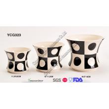 Porzellan Dekorative Pflanze Topf Set für Großhandel