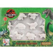 Dibujo o juguete de dibujo de colores de dinosaurio de yeso