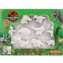 Gypsum Dinosaur Coloured Drawing or Pattern Toy