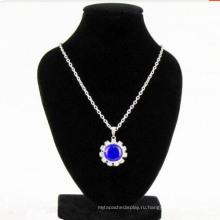 МДФ флок Дисплей ювелирных ожерелье стенд оптом (НС-БКВ-44)