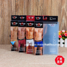 Plastic Print Packaging for underwears (Men′s boxer brief)