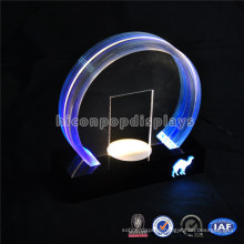 Factory Price Acrylic Countertop Advertising Led Lighting Display Stand, Tobacco Store Lighting Display