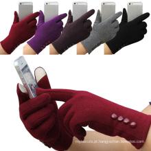 Luvas de Condução Moda Inverno Mulheres Tela de Toque Ao Ar Livre Esporte Luvas Quentes Gants