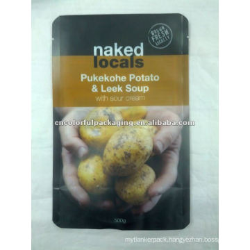 Pukekohe Potato&Leek Soup high quality ziplock bag,resealable foil food pouch for wholesale