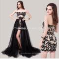 Abendkleid 2015 Gala Abendkleid zu vermieten Kuala lumpurstrapsel Spitze weiches Netzwerk Perlen Pailletten Abendkleid