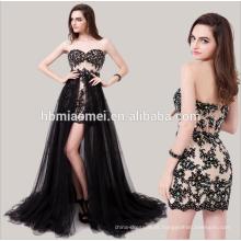 Vestido de noite 2015 gala vestido de noite para alugar kuala lumpurstrapless laço macio rede frisada lantejoulas vestido de noite