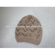100% cotton knitted hat beanie