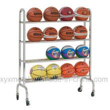 Movable Portable Basketall Football Roll Ball Hand Carts Rack