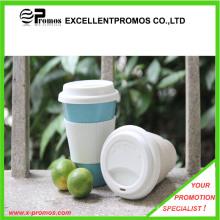 Logo Kundenspezifischer Bambusfaserbecher mit Silikondeckel (EP-M9041)