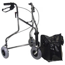 Three Wheeled Steel Walker