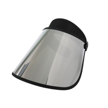 Tapas de visera con lentes plateadas resistentes a los arañazos
