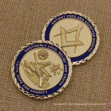 2015 Custom Challenge Münze Metall Freimaurer Münzen für Souvenir