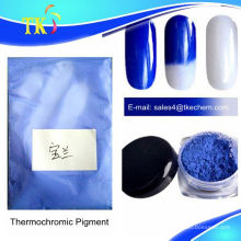 Pigmento termocrômico azul mudar de cor com mudança de temperatura, pigmentos sensíveis ao calor para unha polonês.