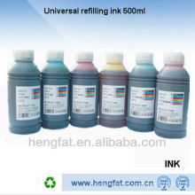 High quality hot sale dye base ink compatible 500ML refill ink BK/C/M/Y/LC/LM