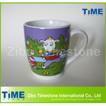 Taza de café de cerámica de Milka del chocolate del