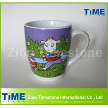 Taza de cerámica del Milka del chocolate del té del café