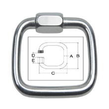 Stainless Steel Casting Square Quick Link (Fastener Hardware)