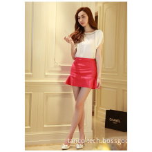 Lady Fashion Candy Color Sexy Lotus Leaf Shape Short Skirt for Girls, Many Colors