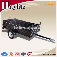 American type farm using strong powder coated steel black dump trailer