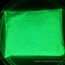Pigmento brilhante verde amarelo / brilho verde em pó escuro