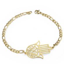 Pulsera de cadena del encanto de la mano de Hamsa del acero inoxidable de la moda para las mujeres