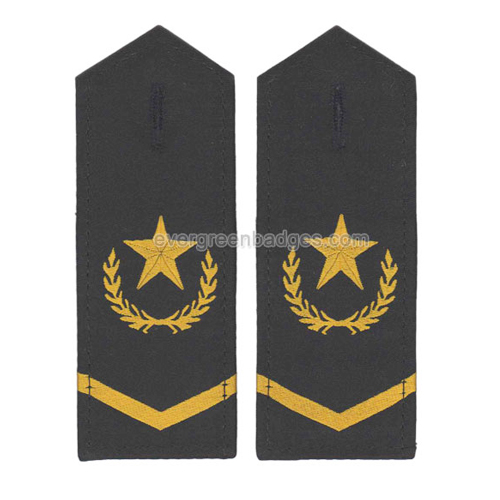 Star Army Military Security Embroidery Epaulette