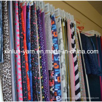 Hermosa tela de estampado floral colorido para vestido / ropa agradable
