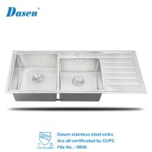 Benutzerdefinierte Größe Doppel Schüssel Edelstahl Elektrode Drainboard Küche Waschbecken