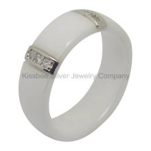 Keramik Ring Sterling Silber Schmuck Accosseries (R21070)