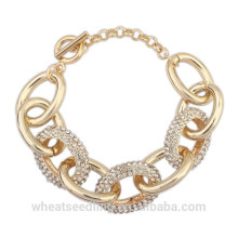 Fashion Gold Chain Stainless Steel Bracelet For Women Ladies 2015