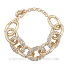 Мода Золотая цепочка из нержавеющей стали браслет для женщин Дамы 2015