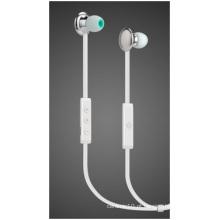 Auscultadores Bluetooth Sport, auricular pequeno auricular de metal de voo.