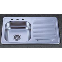Раковина из нержавеющей стали с чашей из нержавеющей стали с одноразовой посудой (KTS8050)