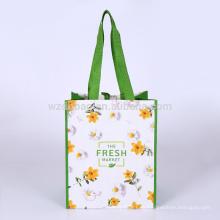 Eco förderndes lamiertes Polypropylen pp. Gesponnenes EinkaufsTaschen-Taschen-Lebensmittelgeschäft für Supermarkt und Werbung