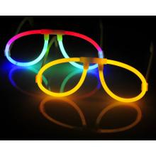 Lunettes en plastique coloré Glow Glow Eye Decoration