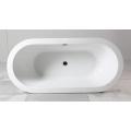 Baignoire autonome en acrylique ovale avec bordure épaisse