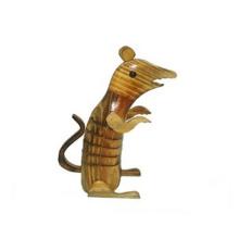 sculpture en bois de souris décorative