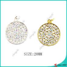Золото серебро кристаллы подвески круг для изготовление браслетов (ПДВ)