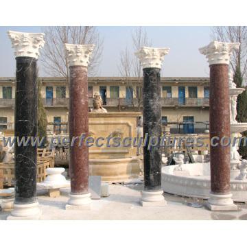 Römische Säule mit Stein Marmor Granit Sandstein (QCM118)