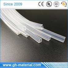 Прозрачные прямоугольные силиконовые трубки для светодиодной ленты 10мм