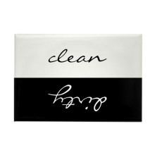 Kundenspezifischer sauberer schmutziger Magnetaufkleber
