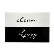Custom Clean Dirty magnet sticker