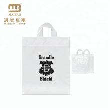 La coutume durable durable de PE 100% qui respecte l'environnement imprime les sacs en plastique transparents de magasinage avec son propre logo