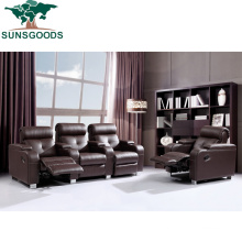 American Style Living Room Home Theater Genuine Recliner Leather Cinema Sofa