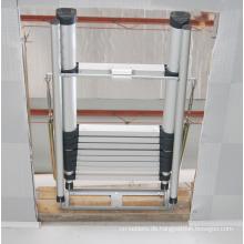 Dachbodenleiter / Aluminium, ausziehbar, dreifach / dreiteilig, Dachboden ausziehbar Dachbodenleiter nach EN 14975 / SGS