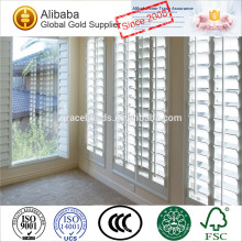 PVC or Fauxwood window shutters with aluminum reinforced